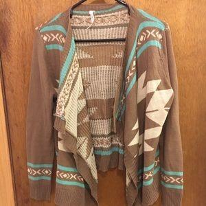 Aztec printed cardigan